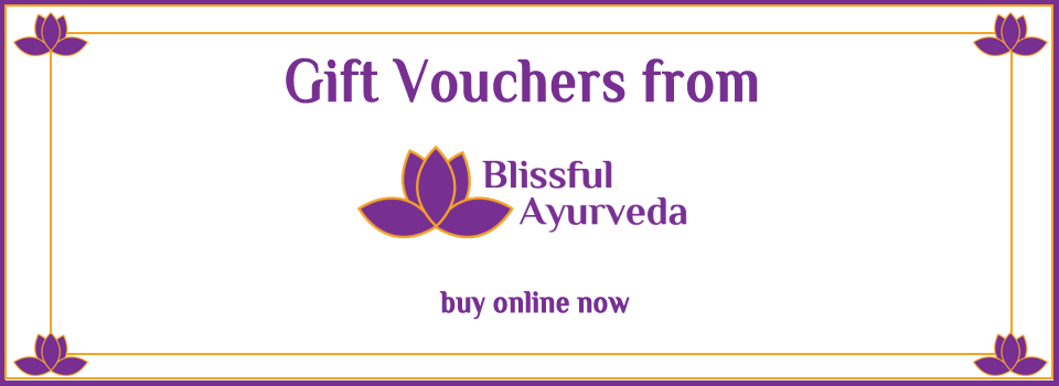 vouchers from Blissful Ayurveda